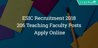 ESIC Delhi Recruitment 2018 - Apply Online - 206 Teaching Faculty Posts