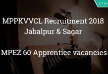 MPPKVVCL recruitment 2018 Jabalpur & Sagar - MPEZ 60 Apprentice vacancies