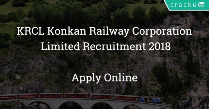 krcl konkan railway corporation limited recruitment 2018