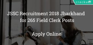 JSSC Recruitment 2018 Jharkhand - Apply online for 265 Field Clerk Posts