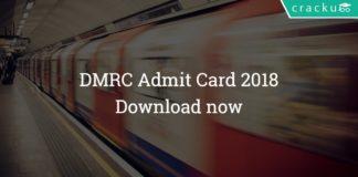DMRC Admit Card download 2018