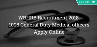 WBHRB Recruitment 2018 – 1098 General Duty Medical officer (GDMO) Posts – Apply Online
