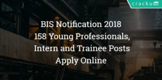 BIS Notification 2018 – Apply Online - 158 Young Professionals, Intern and Trainee Posts