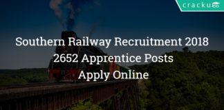 Southern Railway Recruitment 2018 - 2652 Apprentice Posts - Apply Online