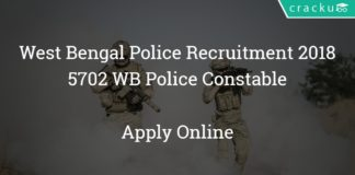 West Bengal Police Recruitment 2018 - Apply online for 5702 WB Police Constable