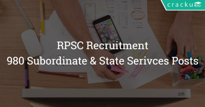 RPSC Recruitment 2018 Apply online