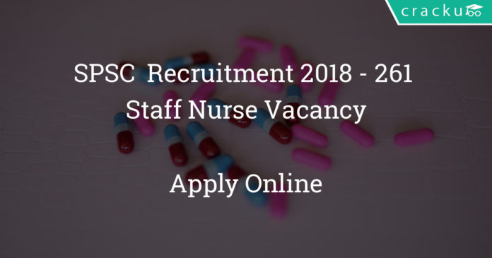 SPSC Recruitment 2018 - Apply Online For 261 Staff Nurse Vacancy