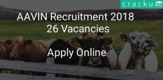 aavin recruitment 2018 - application form for 26 Vacancies