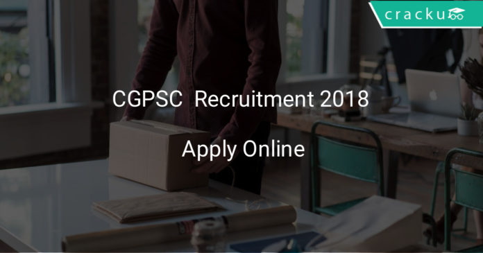 cgpsc recruitment 2018 apply online