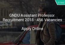 gndu assistant professor recruitment 2018 - Apply online 456 vacancies