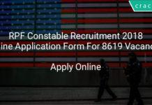 rpf constable recruitment 2018 online application form for 8619 vacancies