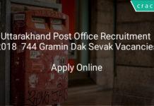 uttarakhand post office recruitment 2018 apply online - 744 Gramin Dak Sevak Vacancies