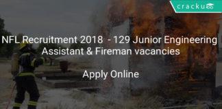 nfl recruitment 2018 Apply online - 129 Junior Engineering Assistant & Fireman vacancies