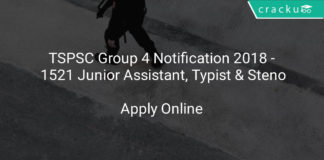 tspsc group 4 notification 2018 - Apply Online For 1521 Junior Assistant, Typist & Steno