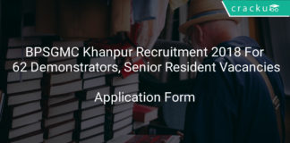 BPSGMC Khanpur Recruitment 2018-Application Form For 62 Demonstrators, Senior Resident Vacancies