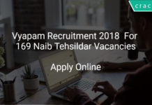 Vyapam Recruitment 2018 Apply Online For 169 Naib Tehsildar Vacancies