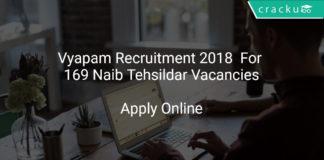Vyapam Recruitment 2018 Apply Online For 169 Naib Tehsildar Vacancies