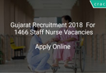 Gujarat Recruitment 2018 Apply Online For 1466 Staff Nurse Vacancies