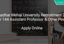 Gangadhar Mehar University Recruitment 2018 Apply Online For 144 Assistant Professor & Other Posts