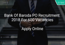 bank of baroda po recruitment 2018 apply online for 600 vacancies