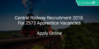 Central Railway Recruitment 2018 Apply Online For 2573 Apprentice Vacancies