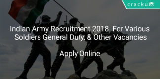 [:en]Indian Army Recruitment 2018 Apply Online For Various Soldiers General Duty, Soldiers Technical & Other Vacancies[:]