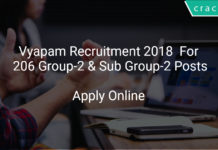 Vyapam Recruitment 2018 Apply Online For 206 Group-2 & Sub Group-2 Posts