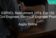GSPHCL Recruitment 2018 Apply Online For 102 Civil Engineer, Electrical Engineer Posts