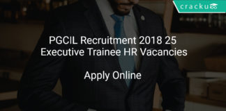 PGCIL Recruitment 2018 Apply Online 25 Executive Trainee HR Vacancies