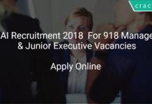 AAI Recruitment 2018 Apply Online For 918 Manager & Junior Executive Vacancies