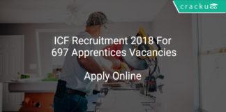 ICF Recruitment 2018 Apply Online For 697 Apprentices Vacancies