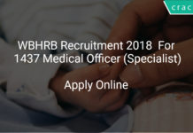 WBHRB Recruitment 2018 Apply Online For 1437 Medical Officer (Specialist)