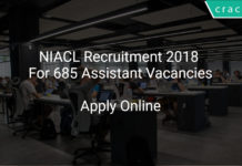 NIACL Recruitment 2018 Apply Online For 685 Assistant Vacancies