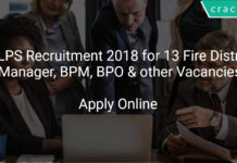 JSLPS Recruitment 2018 Apply Online for 132 Fire District Manager, BPM, BPO & other Vacancies