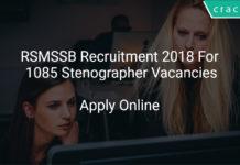 RSMSSB Recruitment 2018 Apply Online For 1085 Stenographer Vacancies