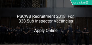 PSCWB Recruitment 2018 Apply Online For 338 Sub Inspector Vacancies