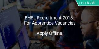 BHEL Recruitment 2018 Apply Offline For Apprentice Vacancies