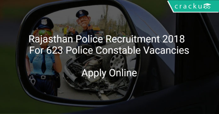 Rajasthan Police Recruitment 2018 Apply Online For 623 Police Constable Vacancies