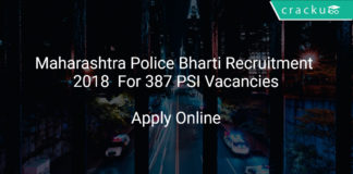 Maharashtra Police Bharti Recruitment 2018 Apply Online For 387 PSI Vacancies