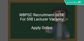 WBPSC Recruitment 2018 Apply Online For 598 Lecturer Vacancy