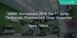 VMMC Recruitment 2018 Apply Online For 17 Junior Technician, Pharmacist & Other Vacancies