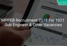 MPPEB Recruitment 2018 Apply Online For 1021 Sub Engineer & Other Vacancies