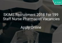 SKIMS Recruitment 2018 Apply Online For 199 Staff Nurse Pharmacist Vacancies
