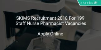SKIMS Recruitment 2018 Apply Online For 199 Staff Nurse Pharmacist Vacancies