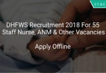 DHFWS Recruitment 2018 Apply Offline For 55 Staff Nurse, ANM & Other Vacancies