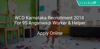 WCD Karnataka Recruitment 2018 Apply Online For 95 Anganwadi Worker & Helper
