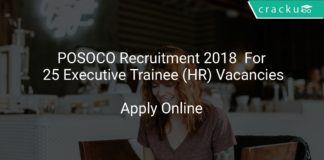 POSOCO Recruitment 2018 Apply Online For 25 Executive Trainee (HR) Vacancies