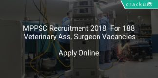 MPPSC Recruitment 2018 Apply Online For 188 Veterinary Ass, Surgeon Vacancies