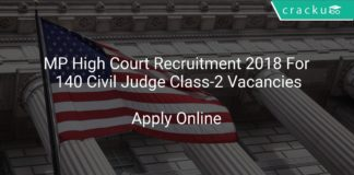 MP High Court Recruitment 2018 Apply Online For 140 Civil Judge Class-2 Vacancies