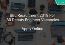 BEL Recruitment 2018 Apply Online For 30 Deputy Engineer Vacancies